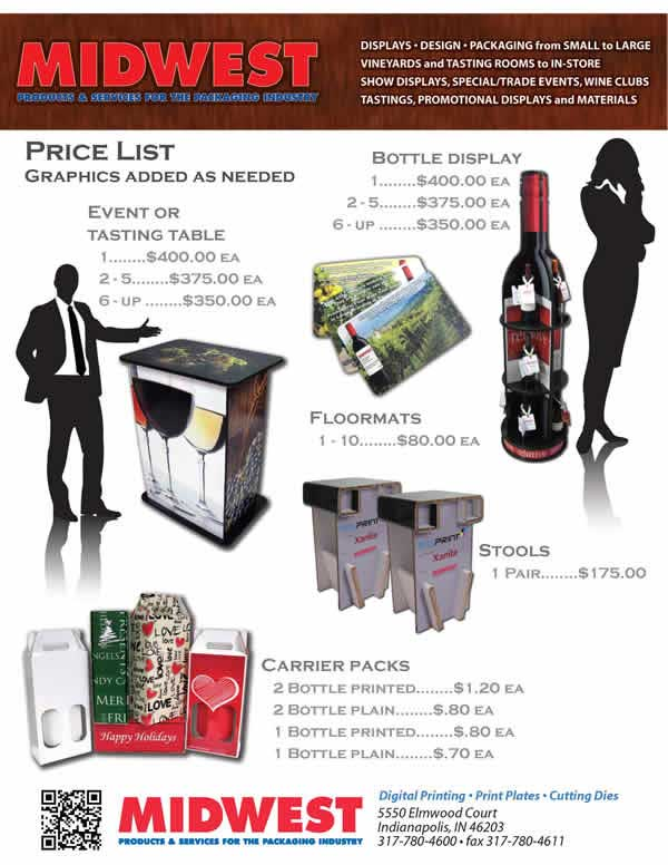 Wine Trade Show Price List Flyer