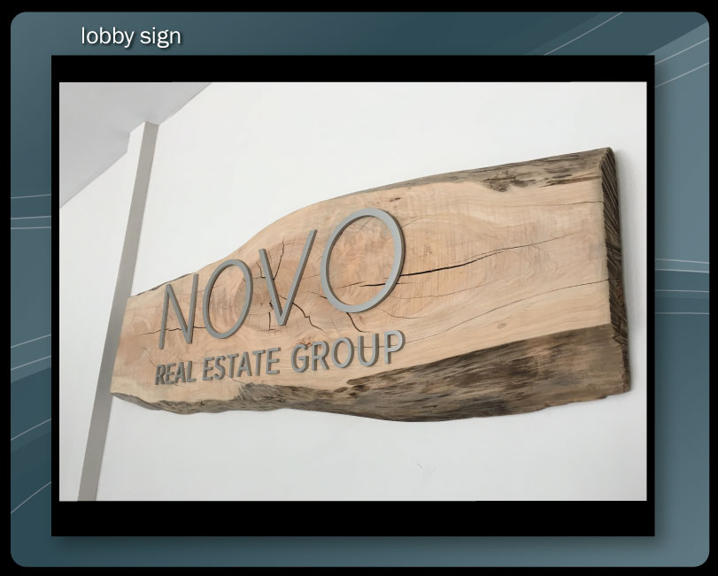 CUSTOM WOOD LOBBY SIGN