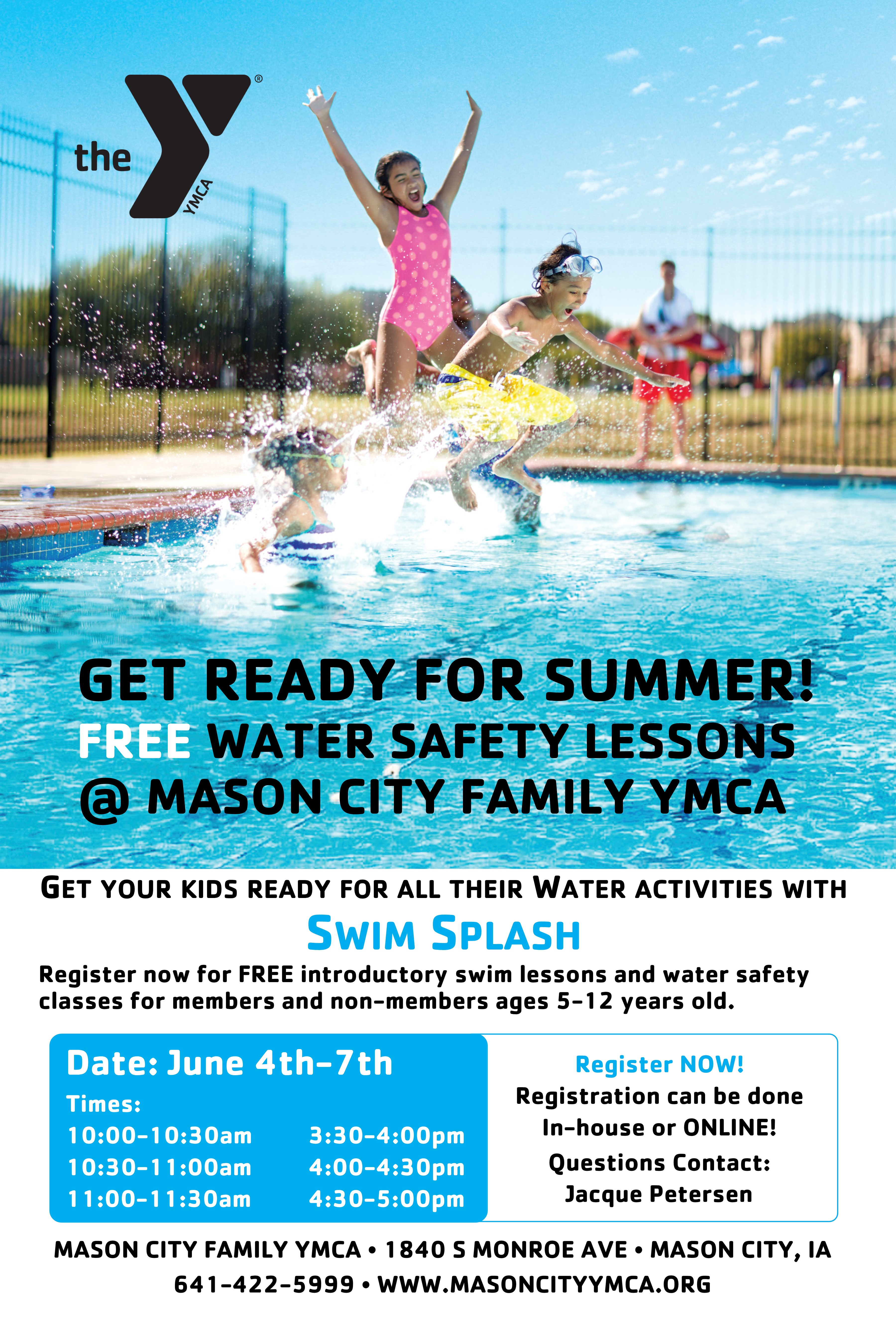 Mason City Family YMCA : Youth Programs : Swimming Lessons : Swim Splash