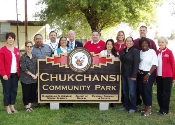 GA16464 - Large HDU Sign for Chuckchansi (Indian Tribe) Community Park