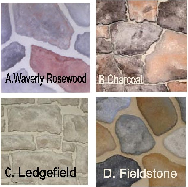M6915 - Stone Patterns #5-#8 for Monument Signs