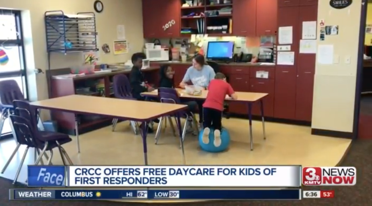 CRCC offers childcare for first responders, healthcare workers