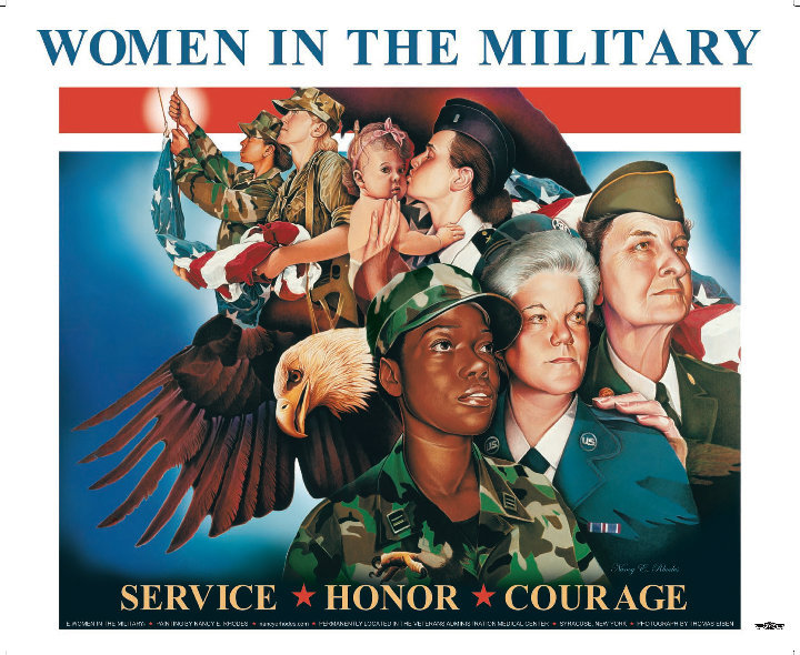 Women in the Military Sign