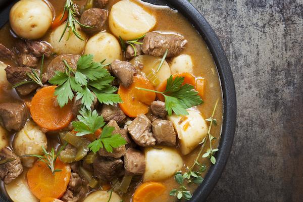 Lamb Stew with Celeriac Mashed Potatoes