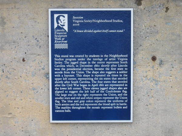 Cast Aluminum Plaque, Photo Image of Lincoln, Lots of Copy, Riverfront Park Lincoln Walk Project, One of Many