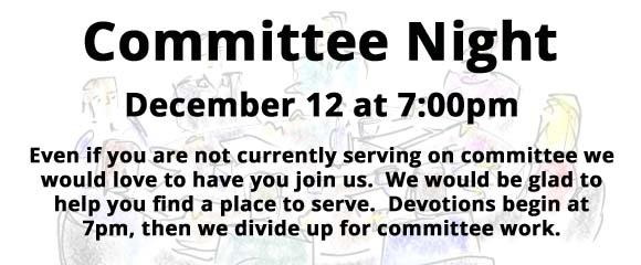 Committee Night 12-17