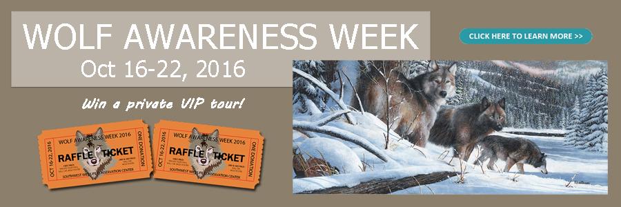 Wolf Awareness Week 2016 banner