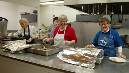 Sisters Serve at The Banquet