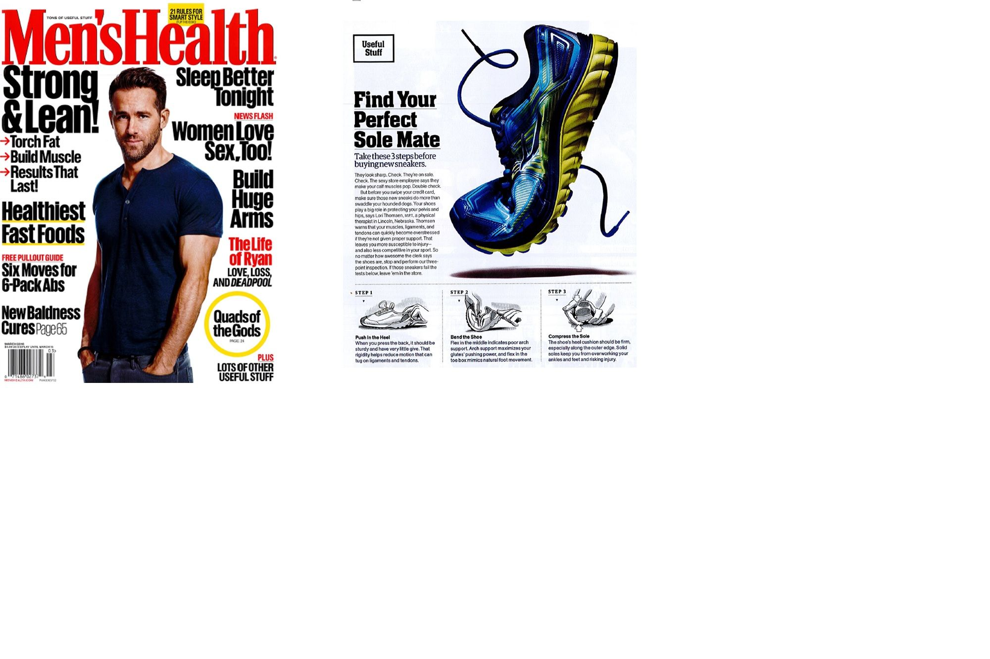 Hruska Clinic's Lori Thomsen Provides Insight into Shoewear in the March Issue of Men's Health