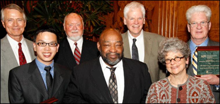DR. WILLIAM B. LAWSON RECEIVES APF AWARD