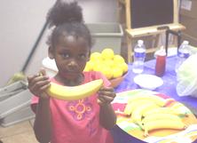 54321 Go ! Girl holing Banana