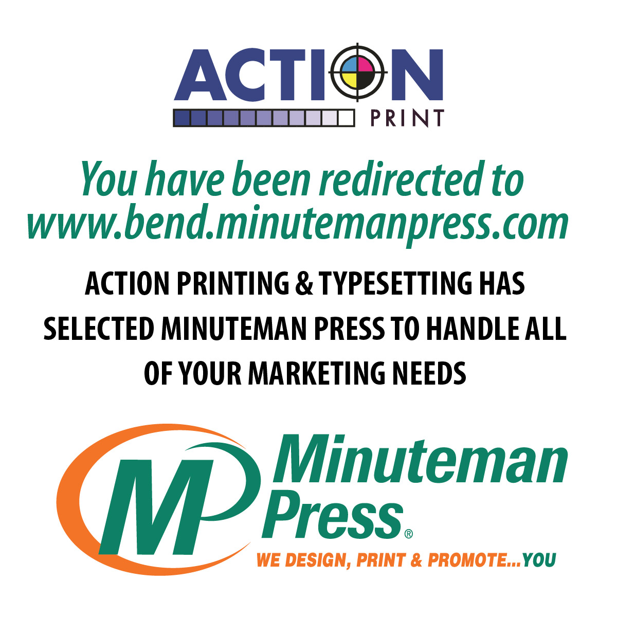 Minuteman press printing copying bend or 97702 business cards colourmoves