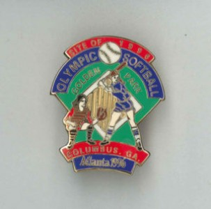 Golden Park Olympics softball commemorative pin