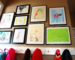 Three easy ways to display children's art