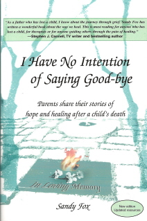 I Have No Intention of Saying Good-bye:  Parents share their stories of hope and healing after a child's death