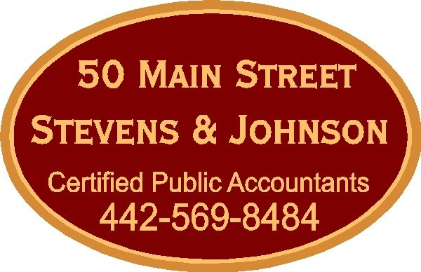 C12035 - Carved and Sandblasted High-Density-Urethane (HDU) Sign for CPA Firm