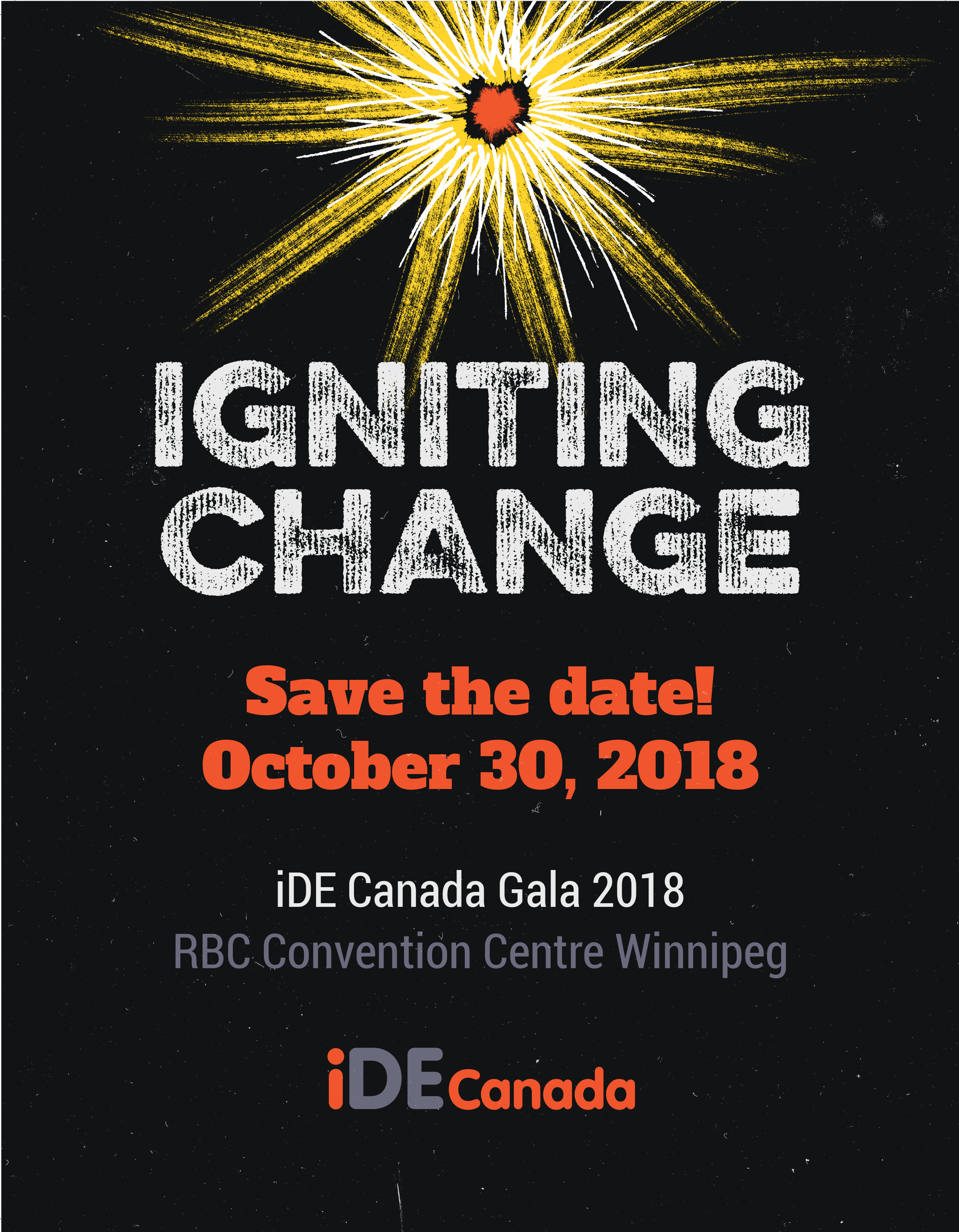 Save the date! iDE Canada Annual Gala | October 30, 2018