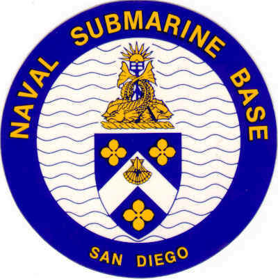 V31312 - Naval Submarine Base Seal Carved Wooden Wall Plaque