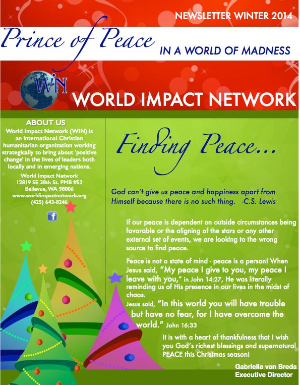 Winter 2014 Newsletter