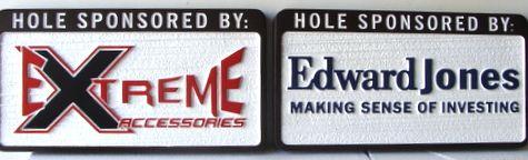 E14573 - Sandblasted HDU Hole Sponsor Signs