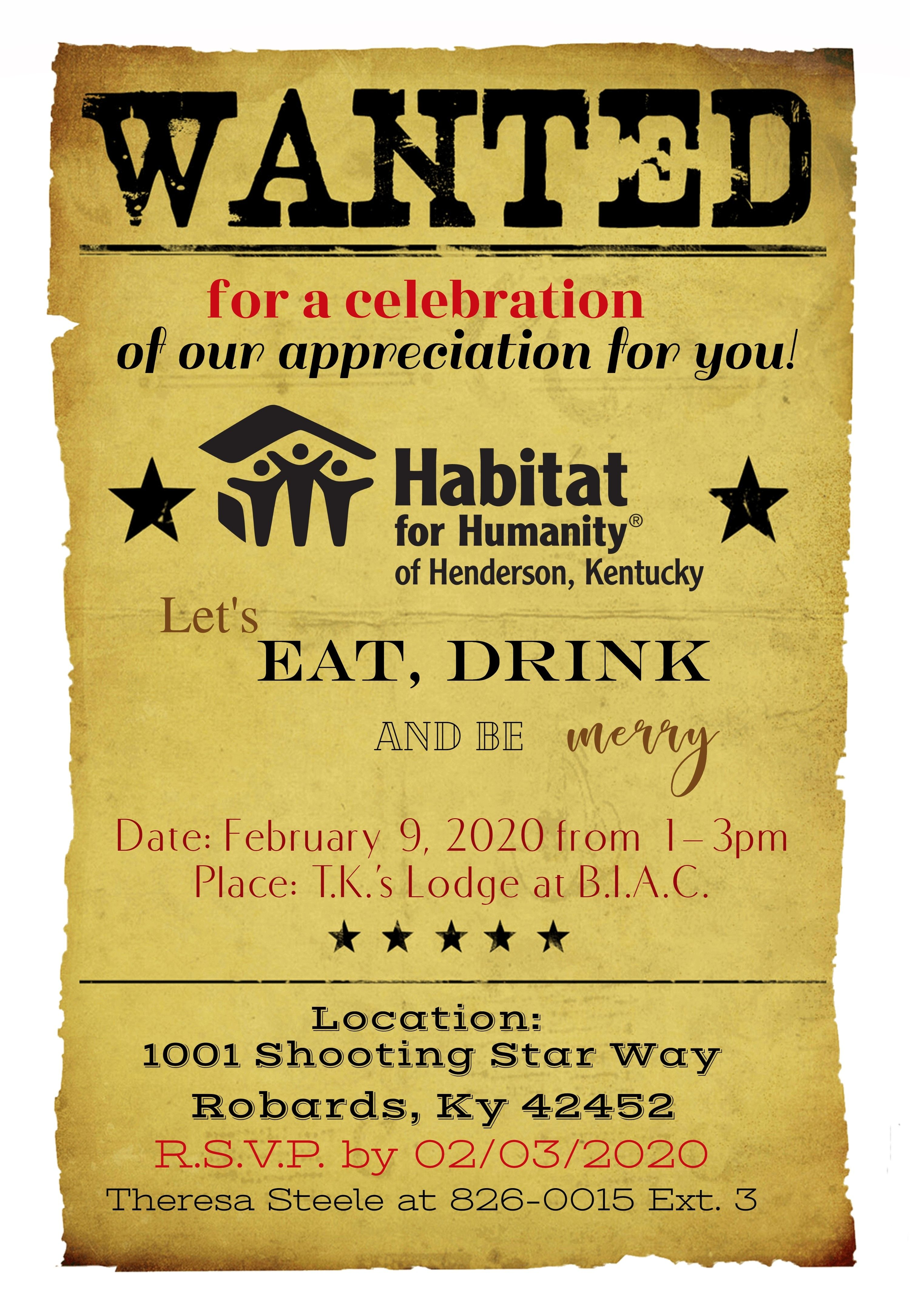 2020 Volunteer Appreciation Dinner