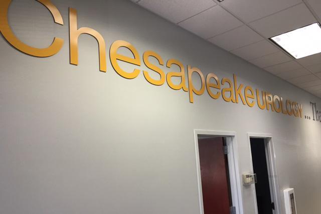 Chesapeake Urology  Dimensional Signage