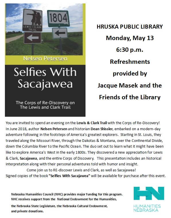 Selfies with Sacajawea at Hruska Public Library