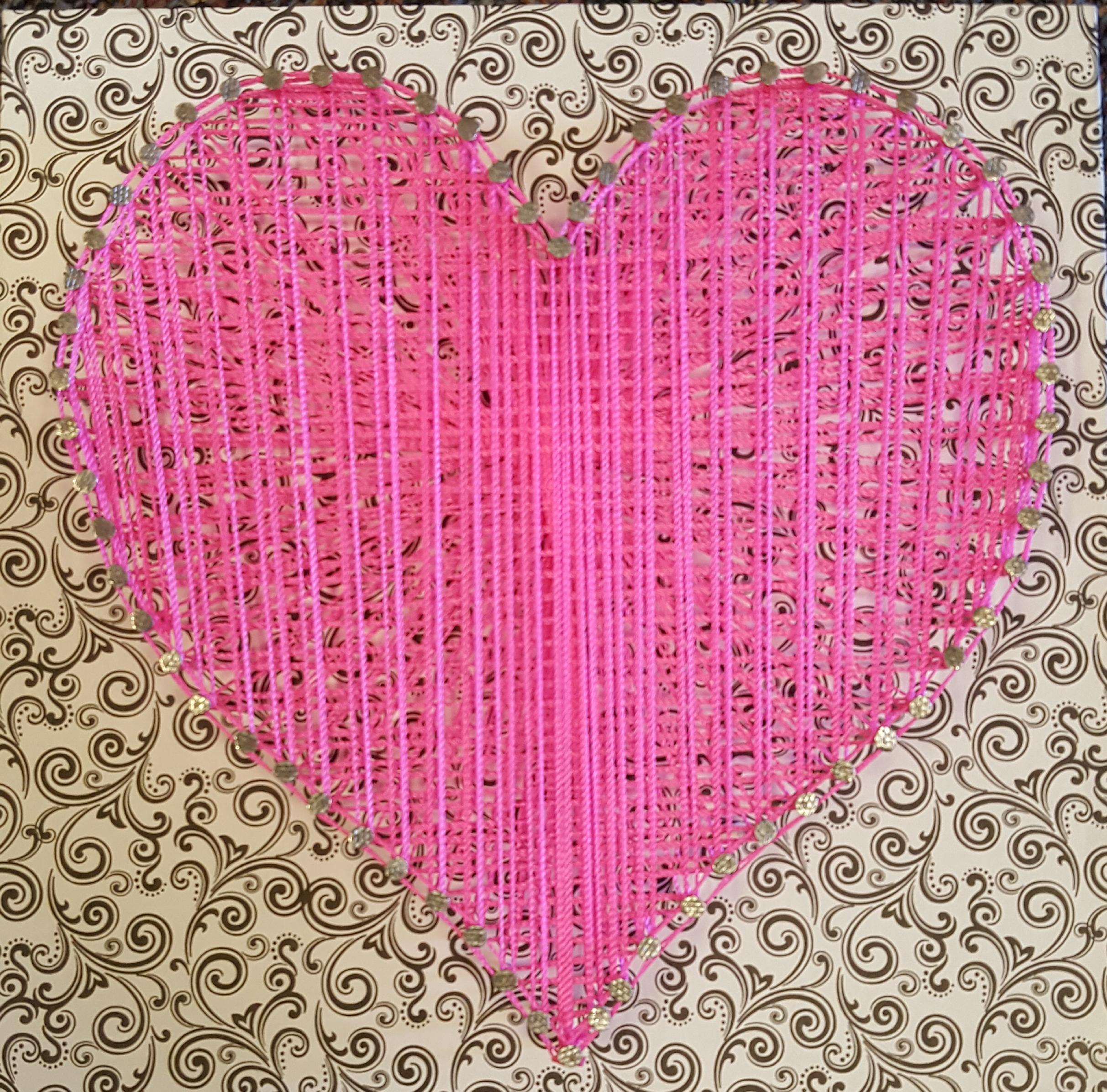 Heart String Art