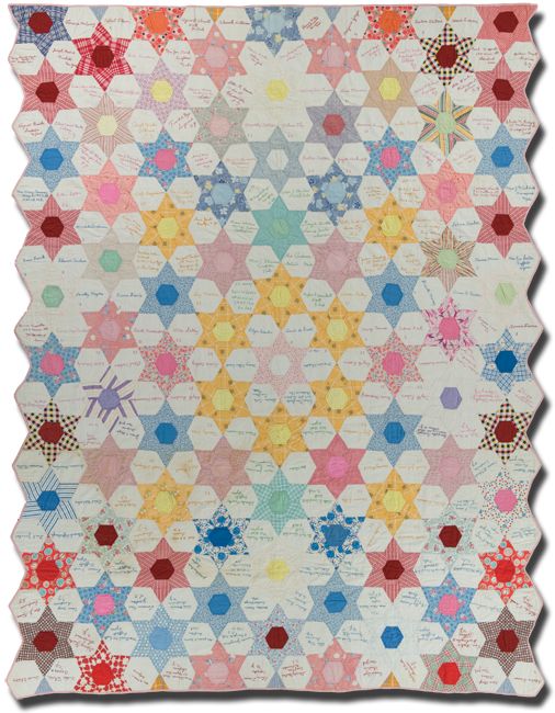Star variation, made by Ina Poulson, made in Crofton, Nebraska, dated 1935-1938, 94.5 x 74, IQSCM 2011.009.0001