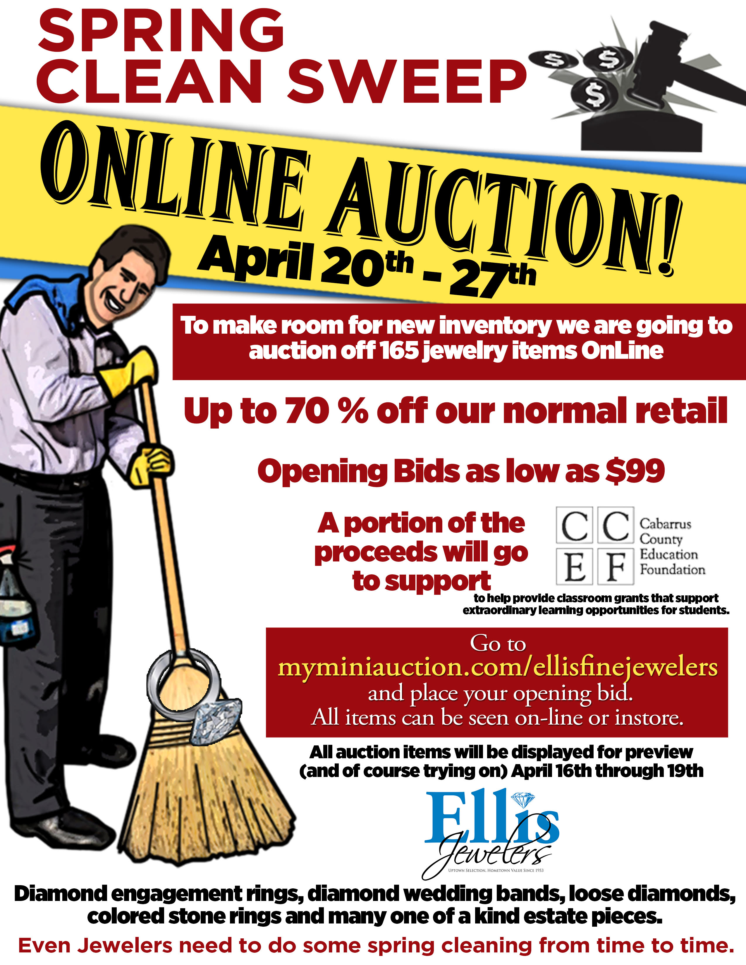 Ellis Jewelers is Cleaning House to Benefit CCEF