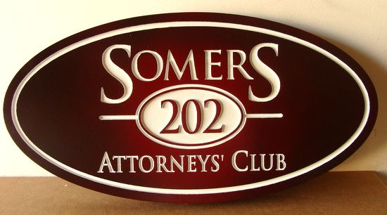 A10935 - Carved Wooden Wall Sign for Attorney's Club