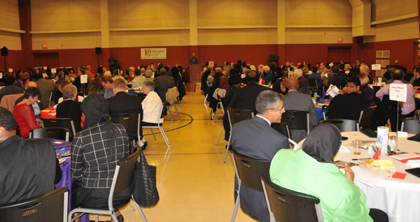 People attending the 2018 Common Good Awards Banquet on October 27, 2018 for Faith Coalition for the Common Good.