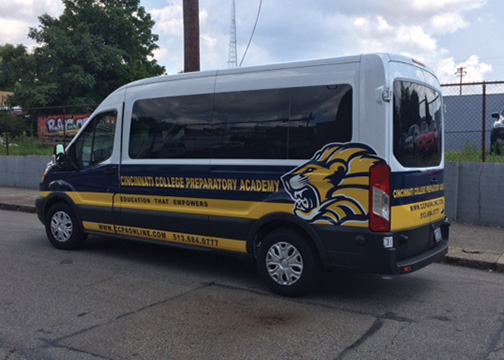 Cincinnati College Prep Academy - Partial Vehicle Wrap