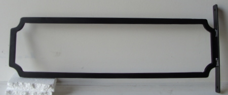 M4047 - Wrought Iron Frame to Hold Street Name Sign Mounted on an Aluminum or Iron Post