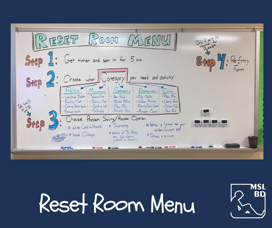 Reset Room Menu