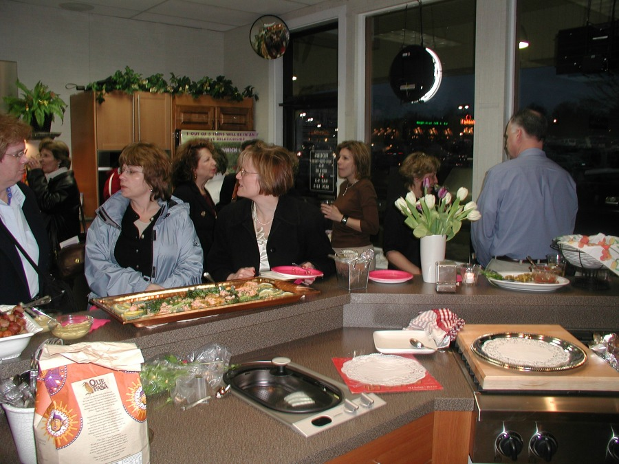 One of many volunteer appreciation socials held by A Woman's Place.