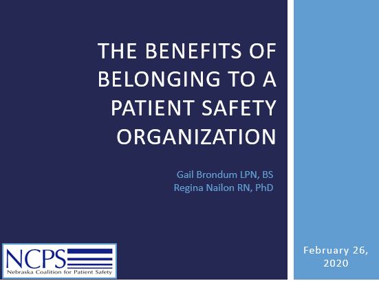 The Benefits of Belonging to a Patient Safety Organization