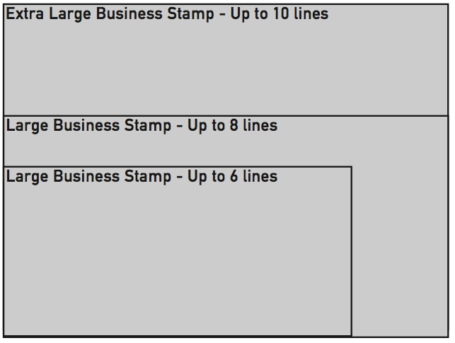 Large/Extra Large Business Stamp