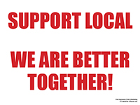 """18"""" x 24"""" Support Local Lawn Signs  - Weather Proof Plastic with Stake"""
