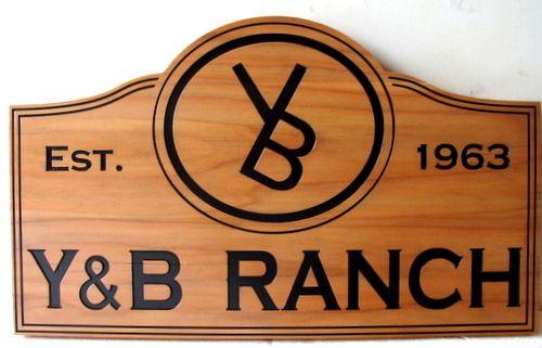 O24922 - Custom Cedar Ranch Sign