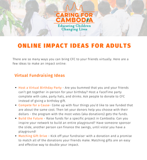 Online Fundraising Ideas for Adults