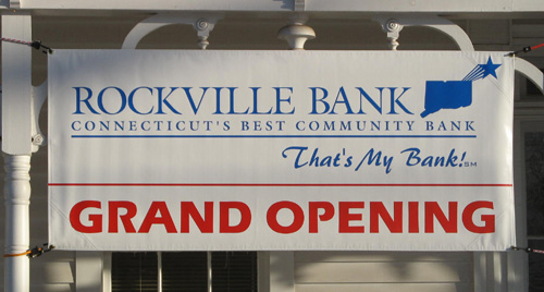 Temporary Custom Grand Opening Banner for Bank