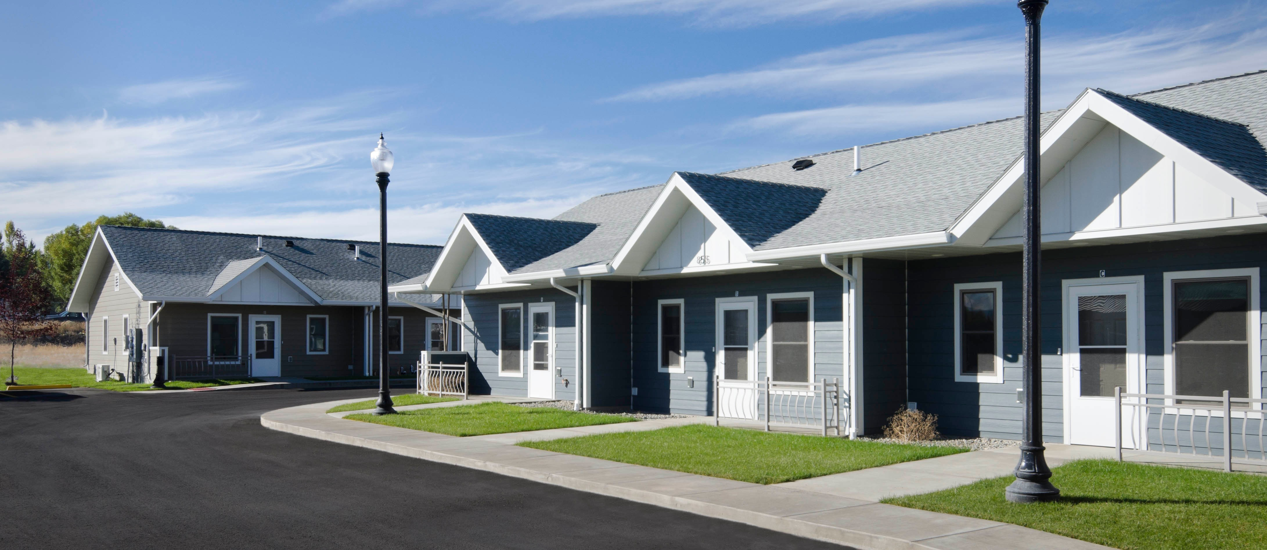 Pictured: Outdoor photo of River Rock residences in Helena, MT.