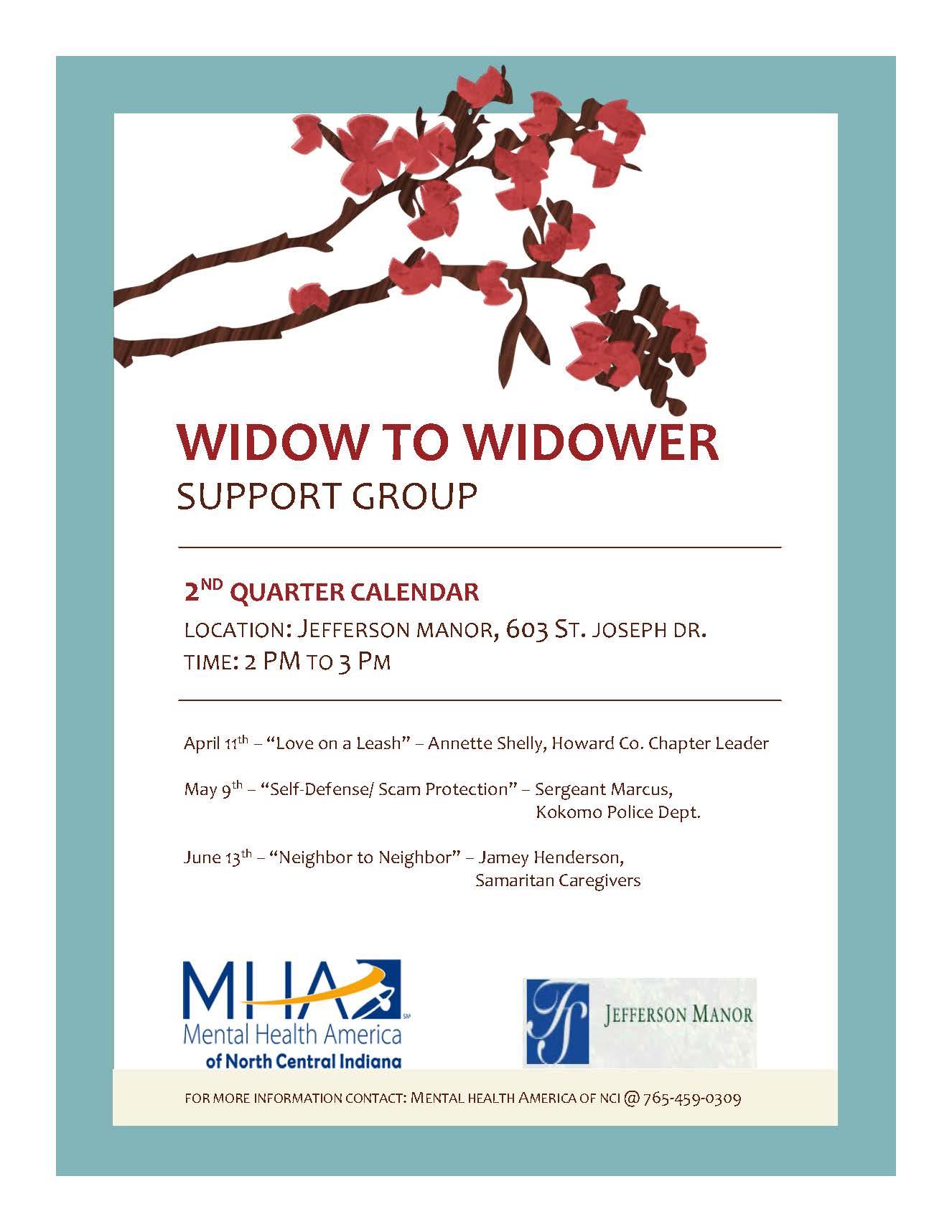 Widow to Widower Spring 2019