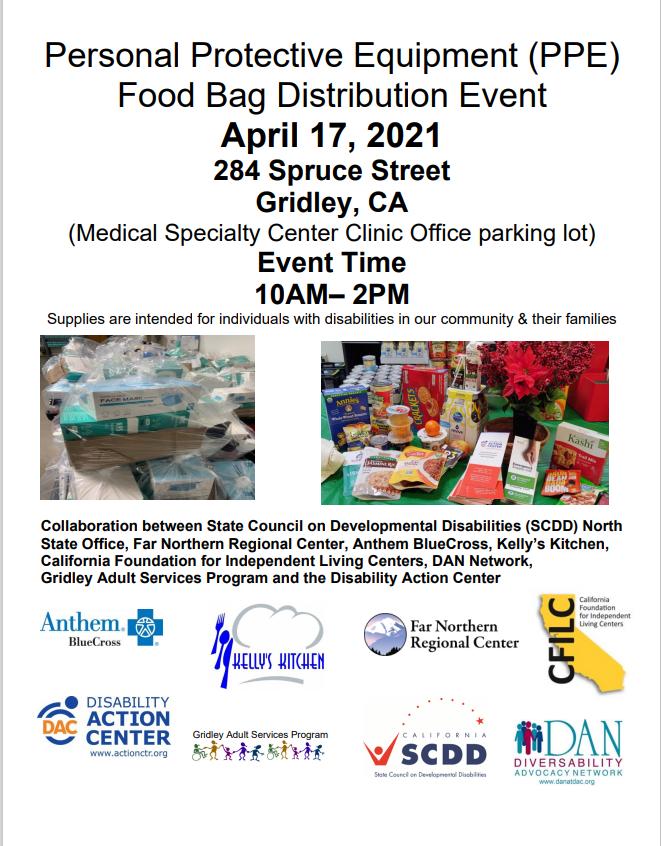 PPE & Food Bag Distribution (Gridley))