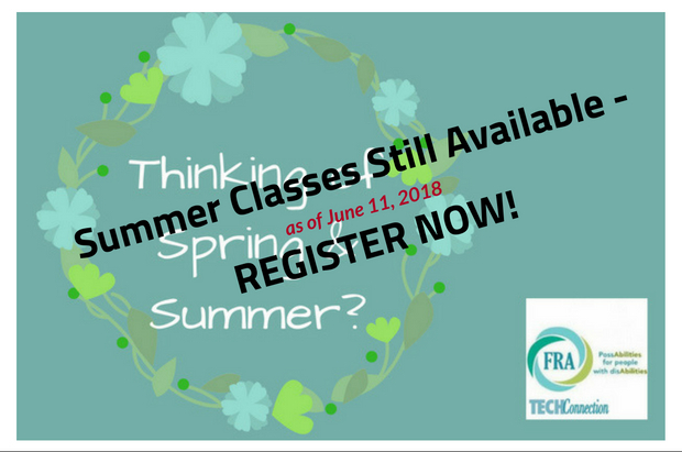 Summer Adult Classes Still Available