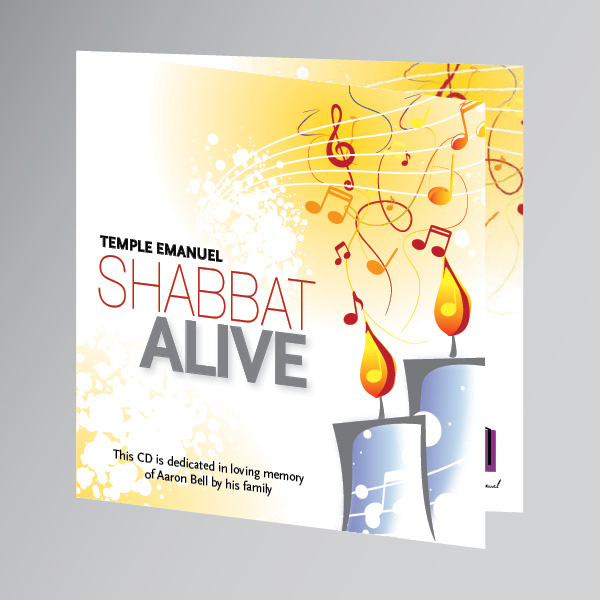 Shabbat Alive CD Packaging
