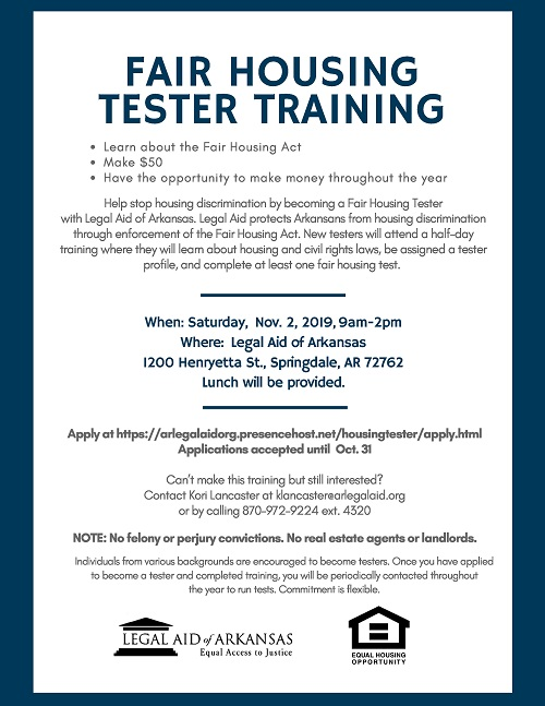 Fair Housing Tester Training - Springdale
