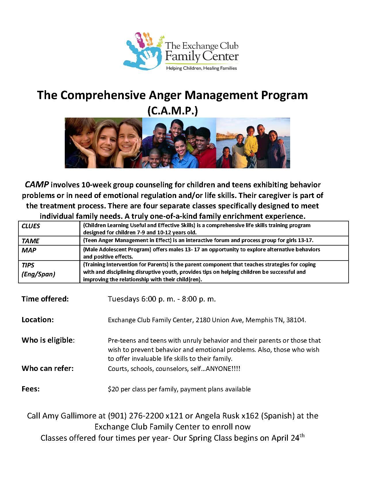 Comprehensive Anger Management (C.A.M.P.)