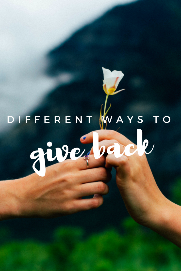 The Importance of Giving Back